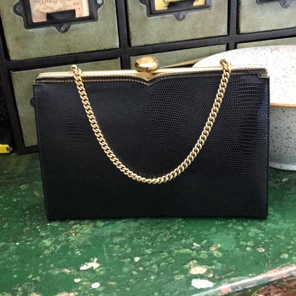 coblentz Handbags - Vintage Coblentz Snakeskin Embossed Evening Bag